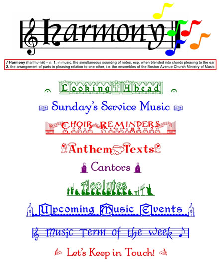 Harmony Newsletter